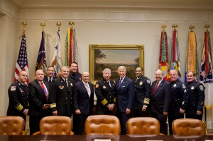 Members of the IACP and the Public Safety Alliance are pictured with Vice President Biden.