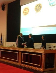 IACP President Walter McNeil and SEPCA President Božidar Vuksanović shake hands after signing the Memorandum of Understanding.
