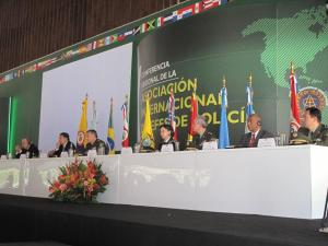 The dais at the 10th IACP South American Executive Policing Conference