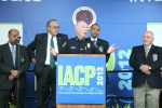San Diego Police Chief Lansdowne at Exhibit Hall Opening/Ribbon-Cutting Ceremony