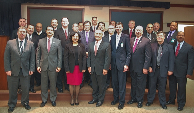The IPDSC-AC poses for a group shot at their meeting in at DHS in February.