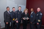 Representatives from the Arlington Police Department (TX) accept the 2012 IACP/LogIn Excellence in Victim Services Award at the 119th Annual IACP Conference in San Diego, California.