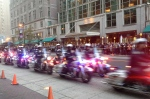 Philadelphia Highway Patrol Drill Team performs a routine.