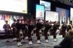 Philadelphia Police and Fire Pipes and Drums at the Opening Ceremony.