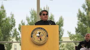 IACP Indian Country Law Enforcement Section Vice Chairman Jesse Delmar, Chief of the Fort McDowell Tribal Police Department, presented remarks on behalf of the Section at the 2014 Indian Country Law Enforcement Memorial Service
