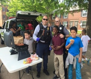 Officers at a surprise BBQ thrown by the unit. Photo courtesy of Alexandria, Virginia, Police Department