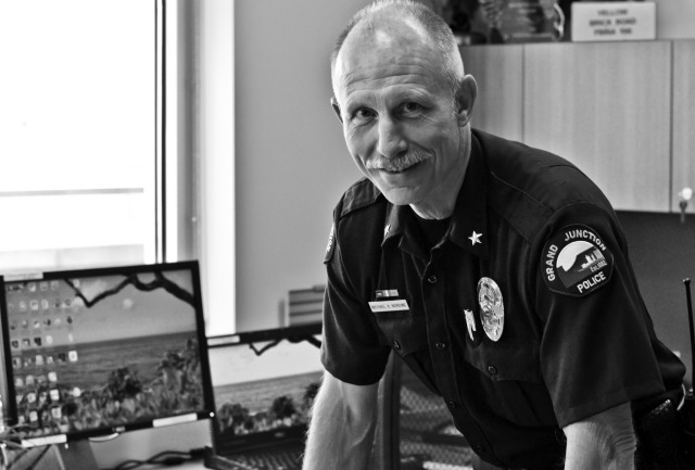 "Deputy Chief, Michael Nordine, has known what he wanted to do in life since he was in the 9th grade. A 32-year veteran of the GJPD, he still finds purpose, drive and passion for what he does. Deputy Chief Nordine is an advocate for his community and approaches his line of work as a ""people business."" He knows the importance of building relationships on an individual level and puts emphasis on strengthening the community. Deputy Chief Nordine has always known it was his place to serve the public and support those who do the same."