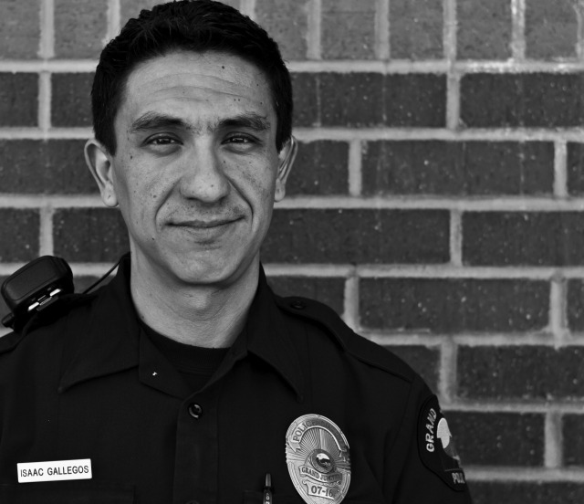 "Officer Isaac Gallegos remembers where he was on September 11, 2001. That day would change him and shift his ideals. That day gave him a new understanding of ""right and wrong"" and ""good and evil."" ""I wanted to do something about it,"" said Officer Gallegos. He decided to become a police officer. Isaac believes the children of the community are the future. He proudly advocates and fights for their rights and works to make his community a better place. He said, ""Anyone can destroy something, but it is a gift to be able to change a life for the better."""