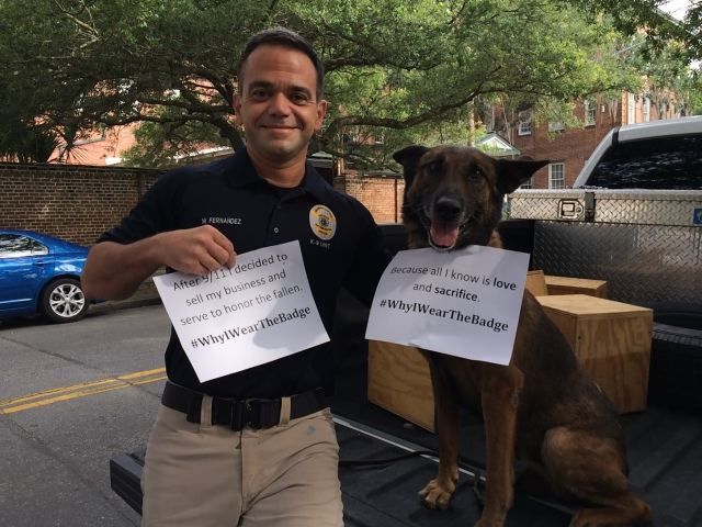Office Will Fernandez and K9 Faust