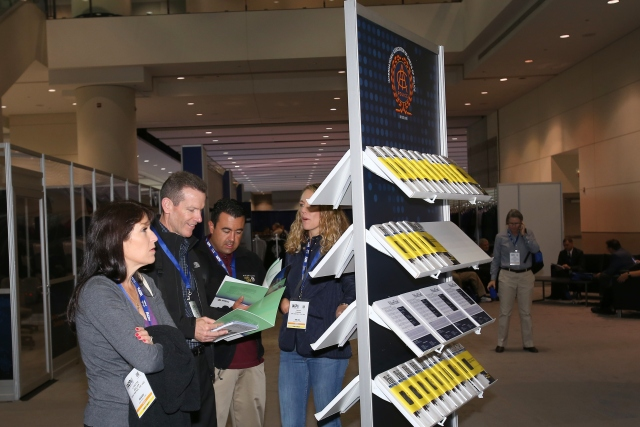 Attendees browse resources IACP Central
