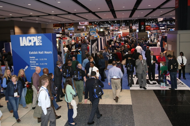 Attendees enter the Exposition Hall